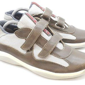 Womens Prada Americas Cup Mesh & Leather Shoes 7.5